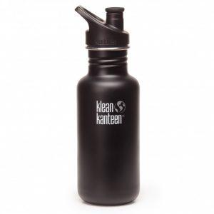 Klean Kanteen bidon 532 ml Shale black mat zwart
